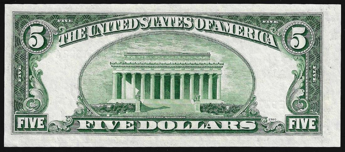 1953A $5 Silver Certificate Note Choice Uncirculated - 2