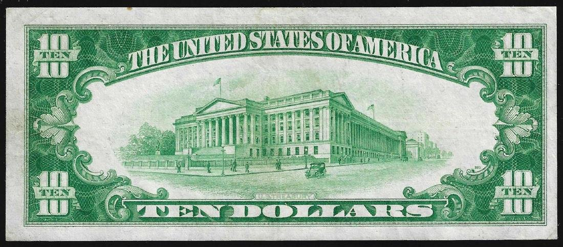 1928 $10 Gold Certificate Note - 2