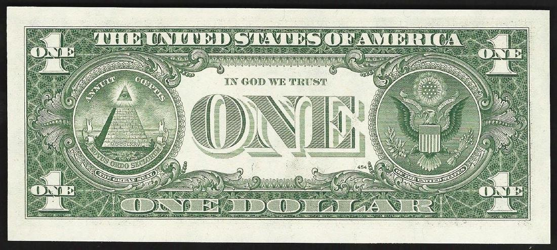 1981 $1 Federal Reserve Note Offset ERROR - 2