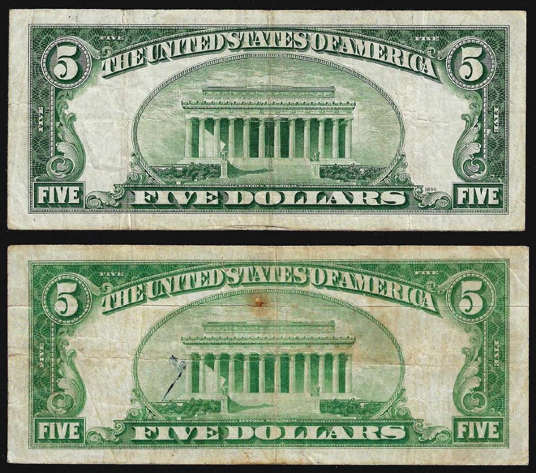 Lot of (2) 1928 $5 Legal Tender Notes - 2