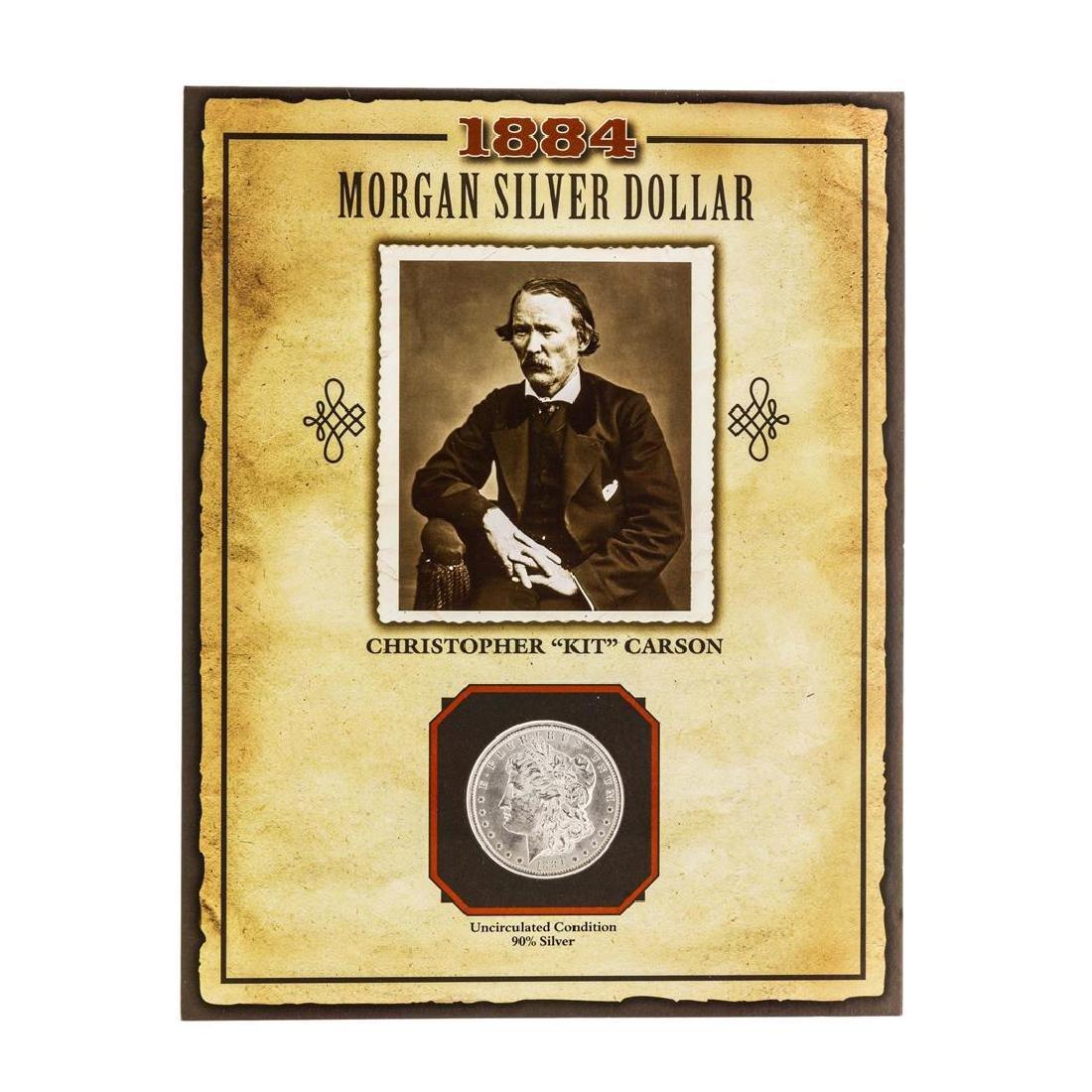 1884-O $1 Morgan Silver Dollar Coin with Christopher