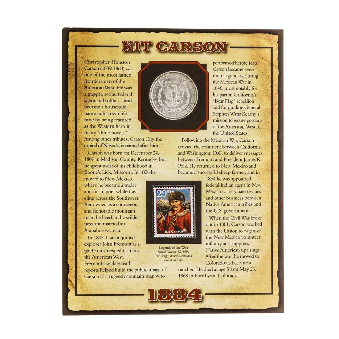 1884-O $1 Morgan Silver Dollar Coin with Christopher - 2