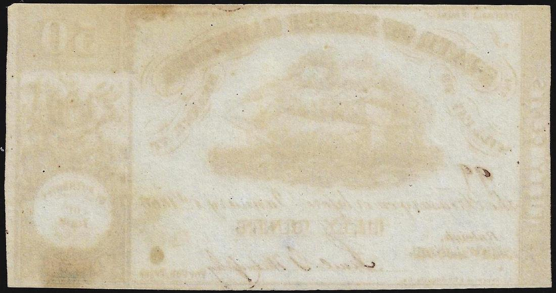 1866 Fifty Cents State of North Carolina Obsolete Bank - 2