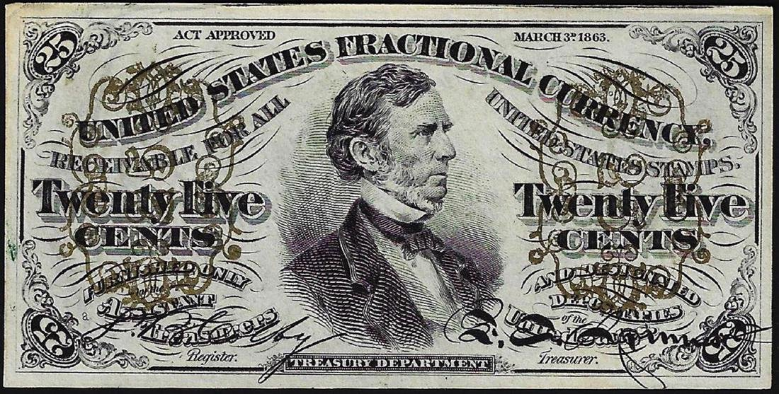March 3, 1863 Twenty-Five Cents Third Issue Fractional