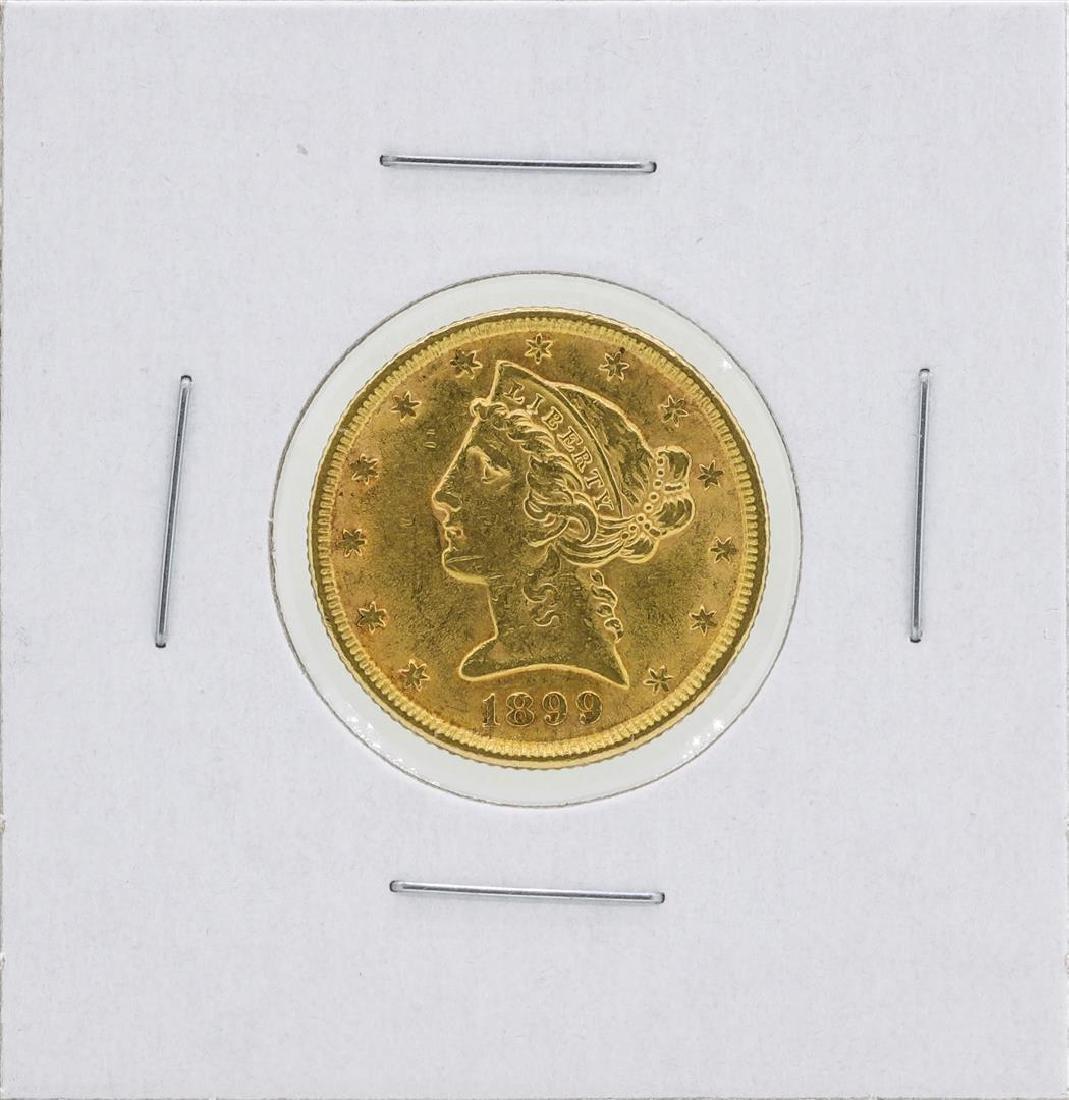 1899 $5 Liberty Head Half Eagle Gold Coin