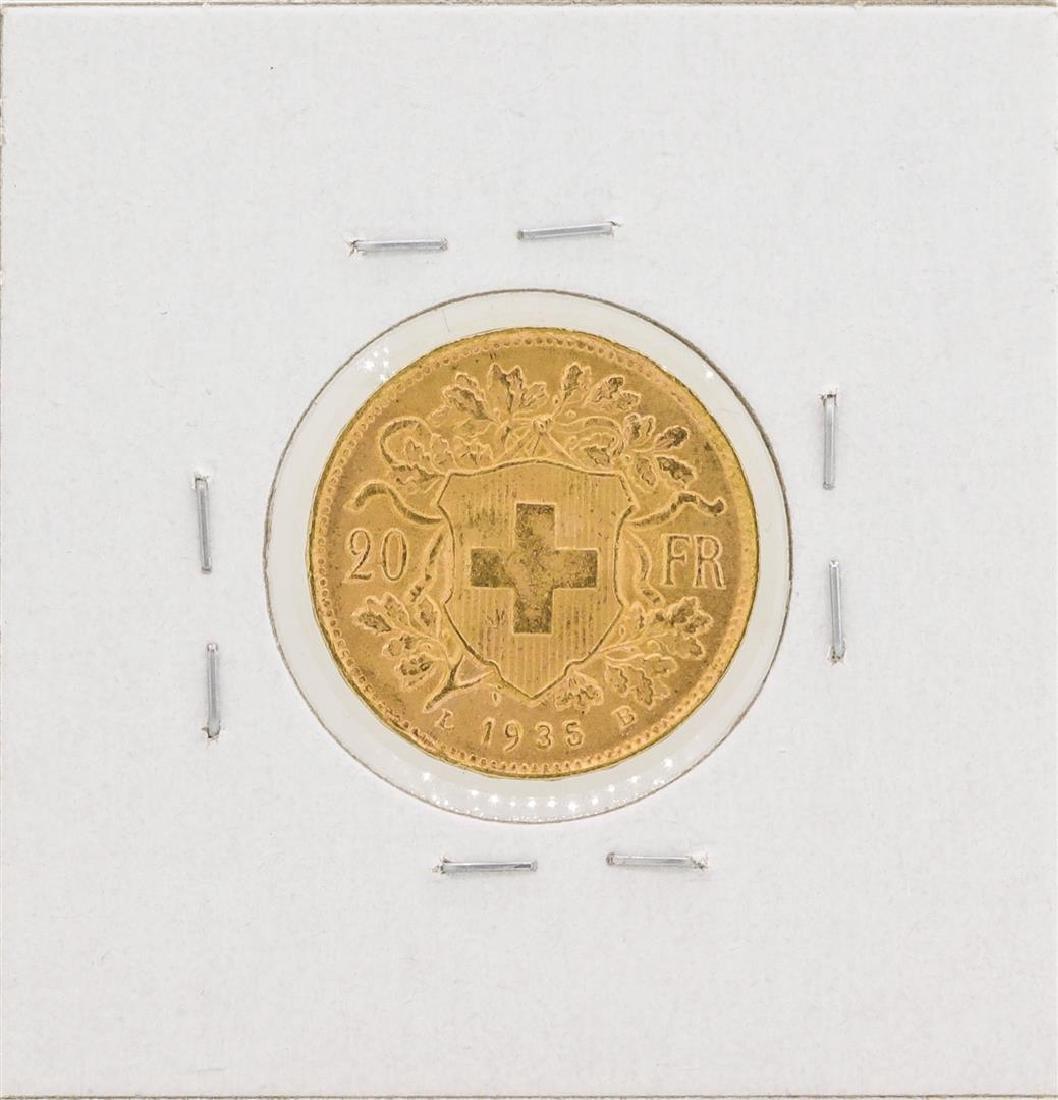1935 Switzerland 20 Francs Gold Coin - 2