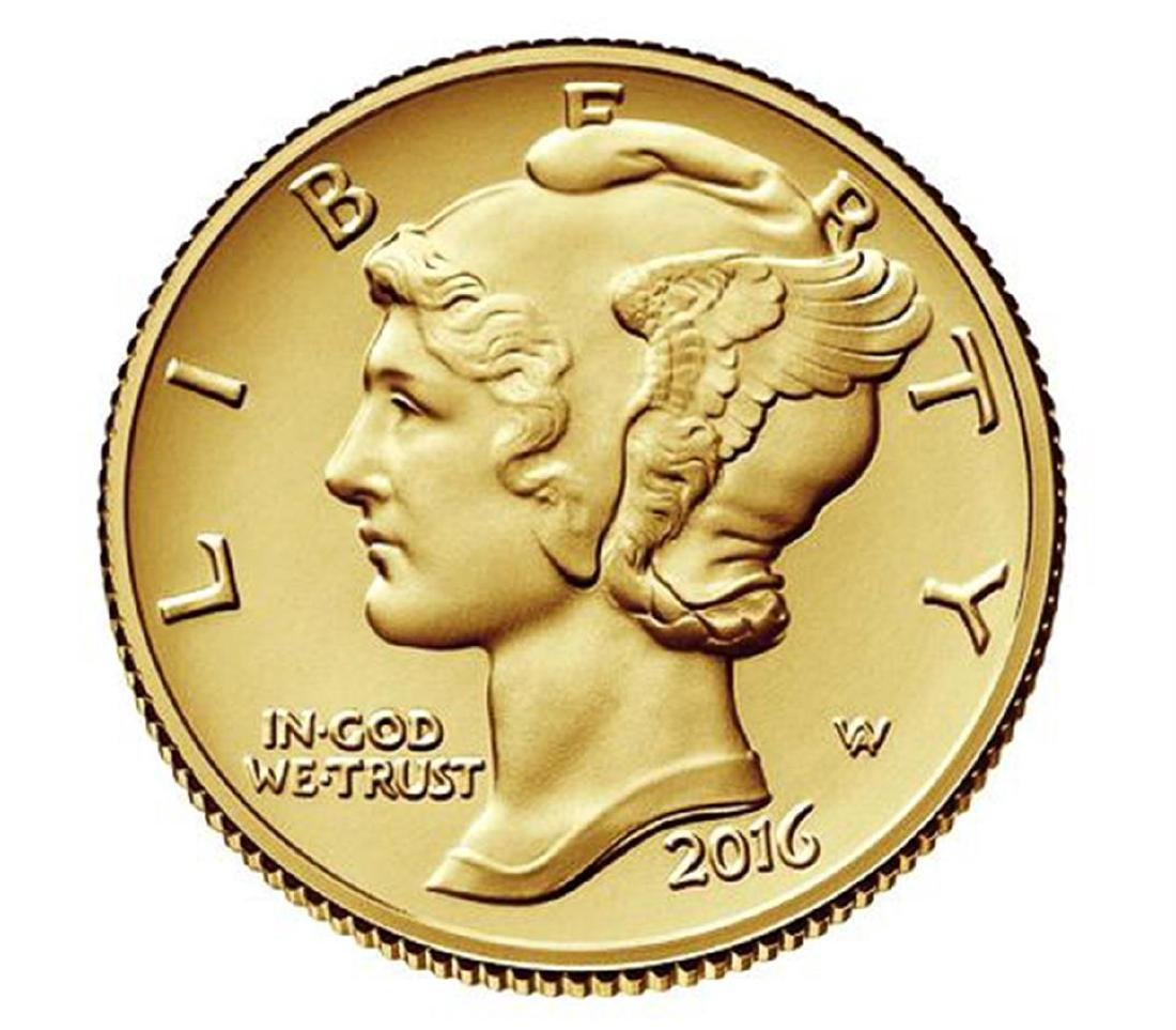 2016-W Mercury Dime Gold Centennial Commemorative Coin