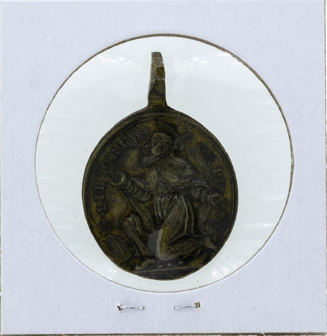 Circa 1750 France Catholic Religious Medal Saint - 2
