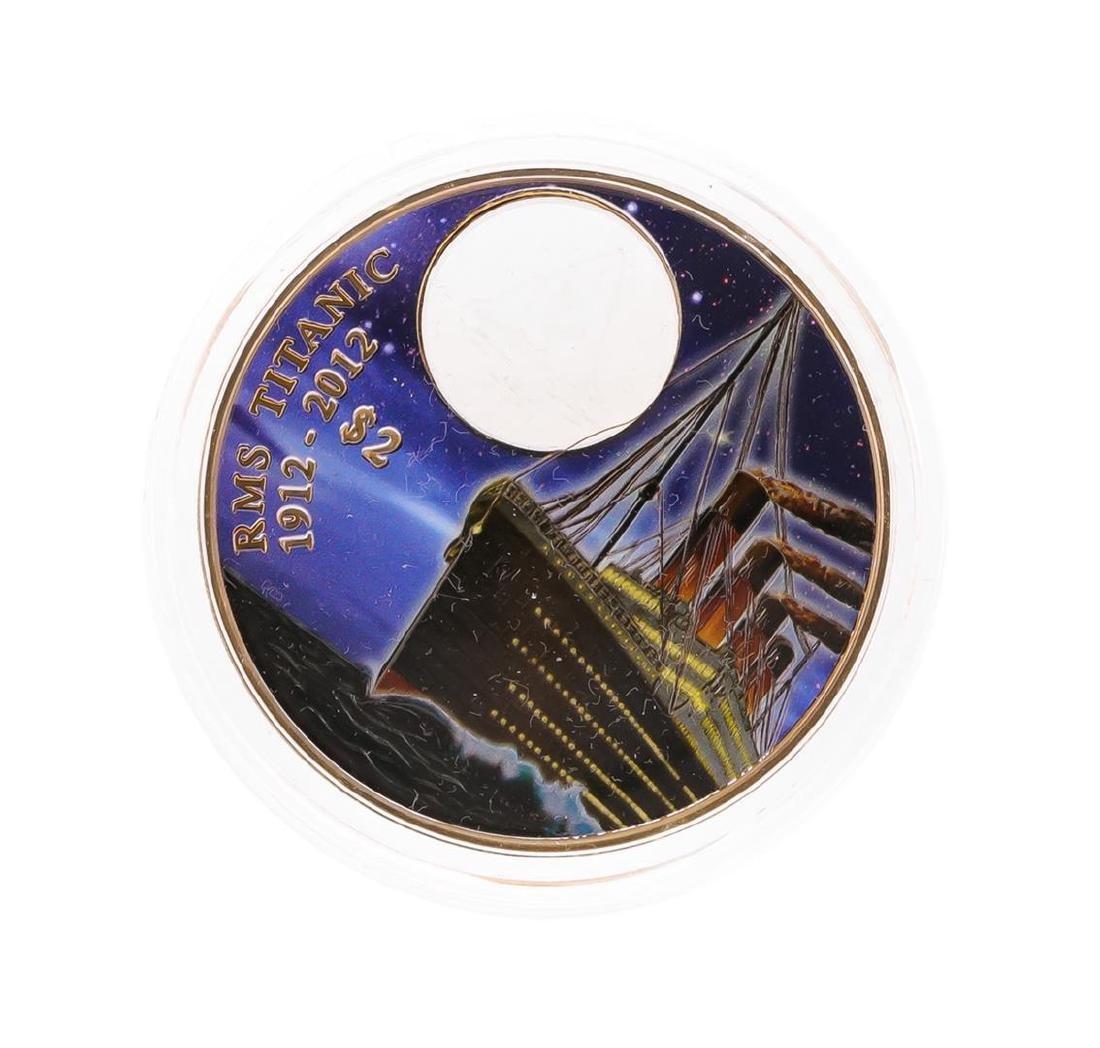 2012 $2 Titanic Night British Virgin Islands Bronze - 2