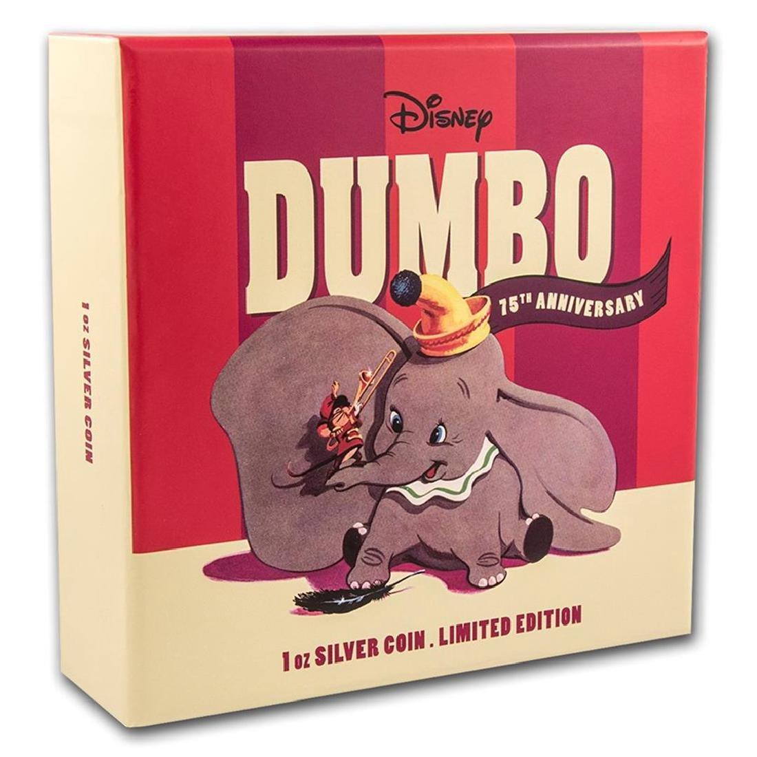 2016 $2 Disney Dumbo .999 Fine Silver Proof Coin - 3