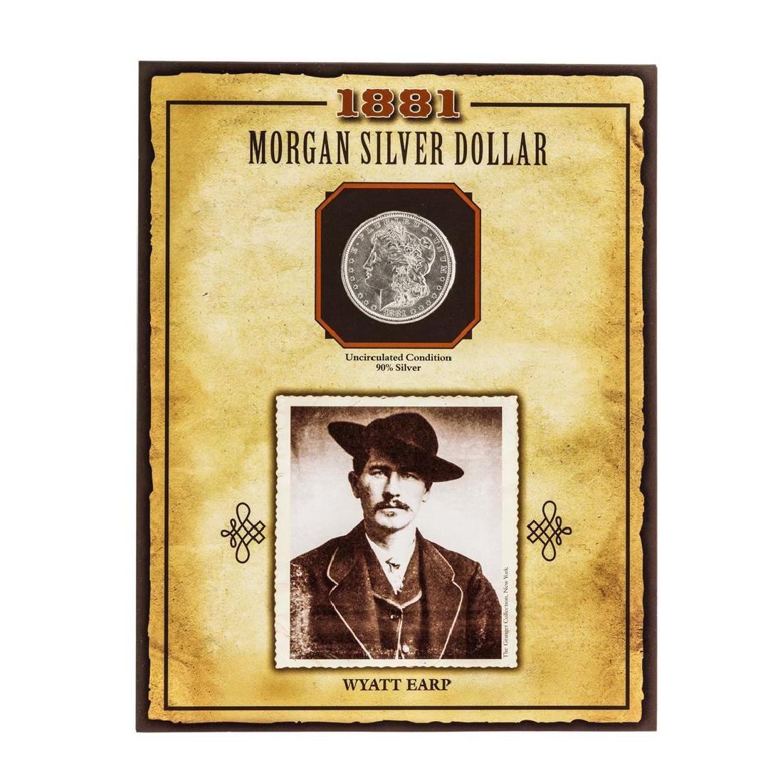 1881-O $1 Morgan Silver Dollar Coin with Wyatt Earp
