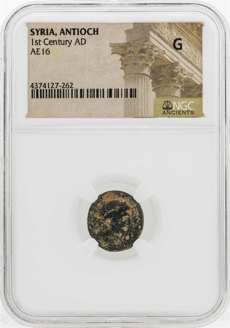 1st Century AD Syria Antioch AE16 Coin NGC G