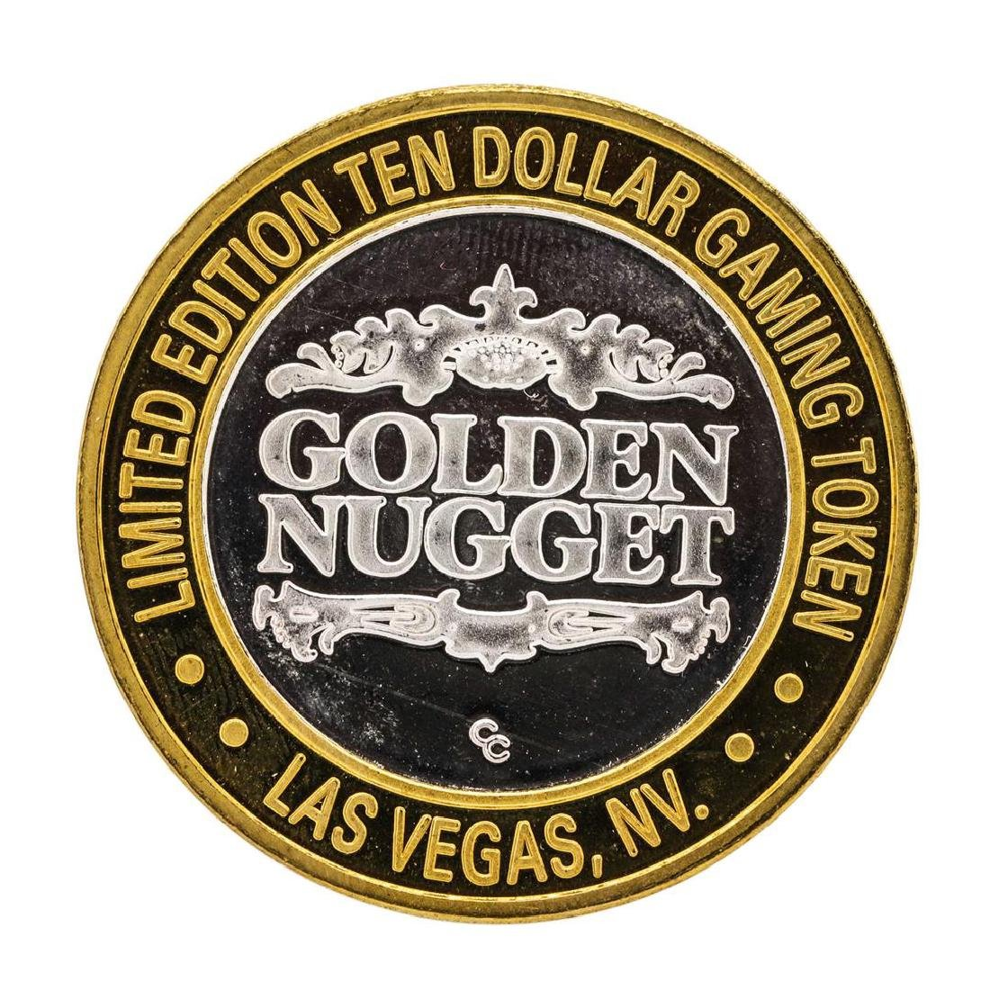 .999 Silver Golden Nugget Las Vegas $10 Casino Limited - 2