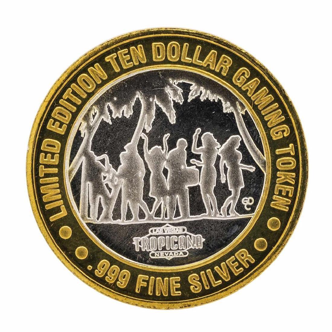 .999 Fine Silver Tropicana Las Vegas $10 Casino Limted - 2