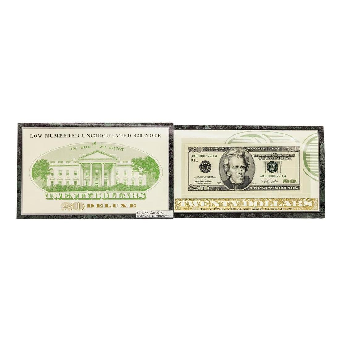 1996 $20 Federal Reserve Note LOW SERIAL Number