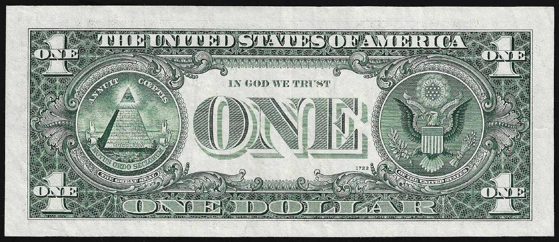 1963D $1 Federal Reserve Note ERROR Partial Offset - 2