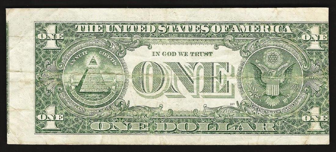 1985 $1 Federal Reserve Note Misalignment ERROR