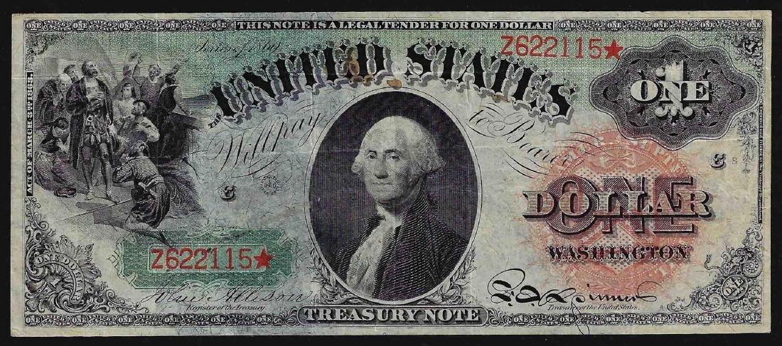 1869 $1 Rainbow Legal Tender Note