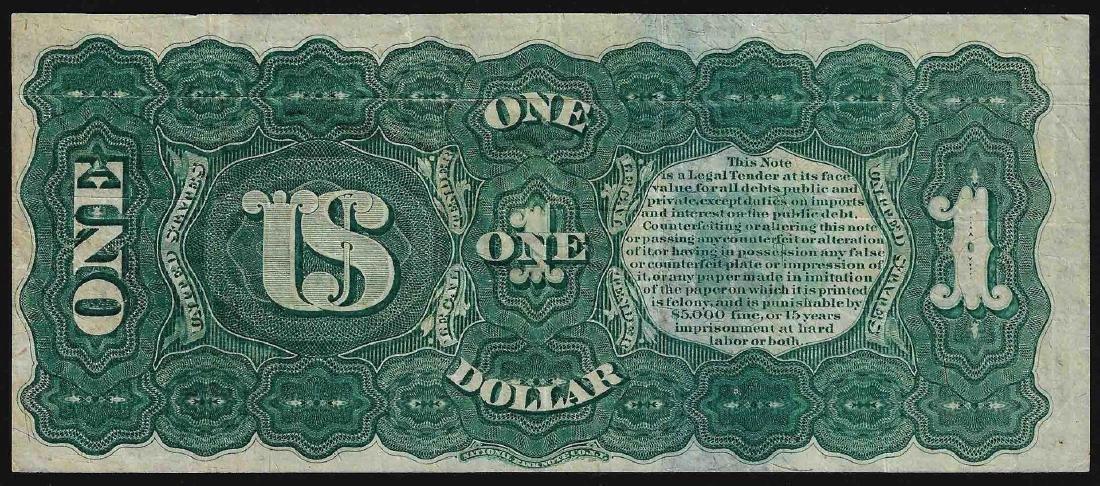 1869 $1 Rainbow Legal Tender Note - 2