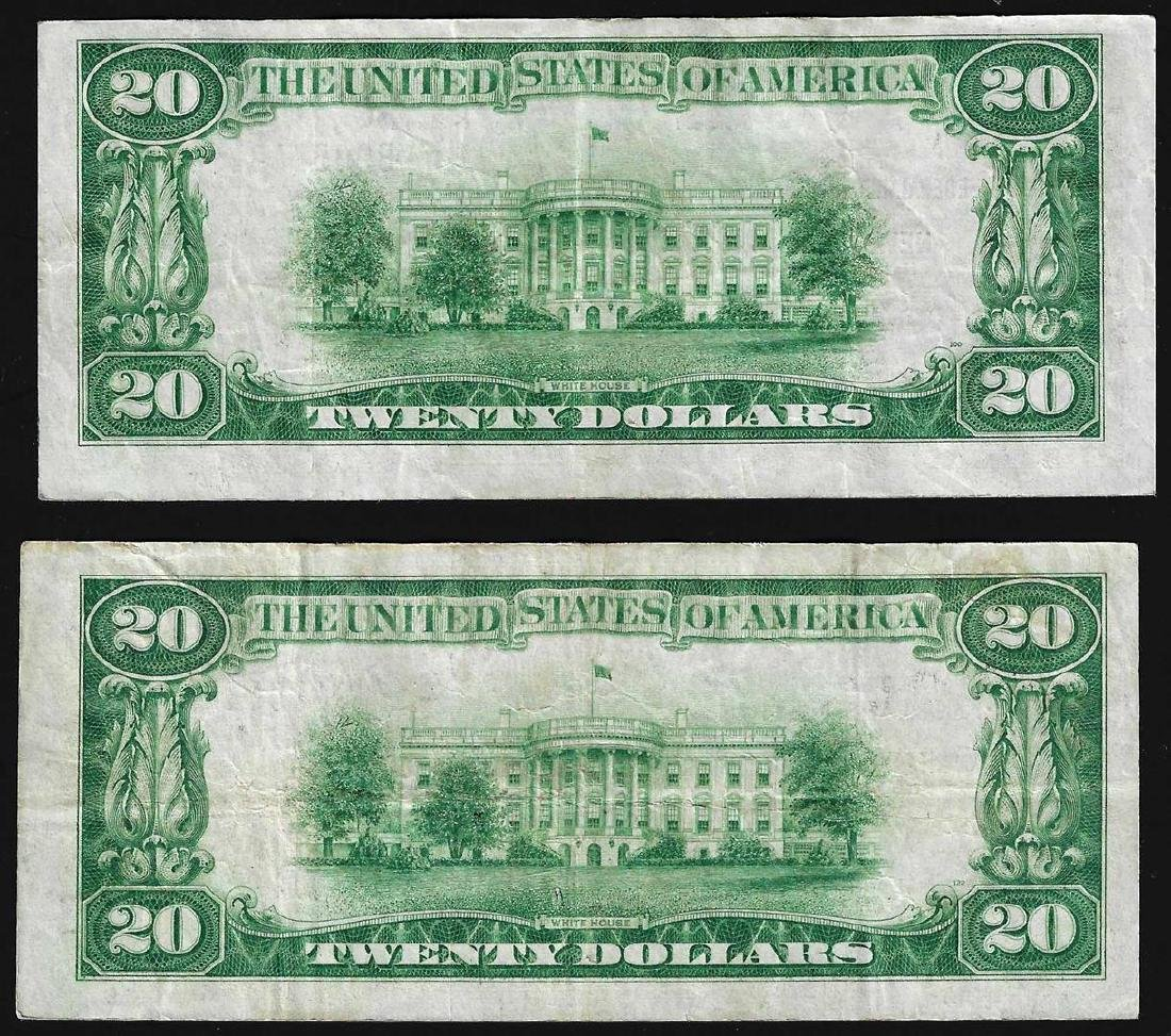 Lot of (2) 1929 $20 Federal Reserve Bank of New York - 2