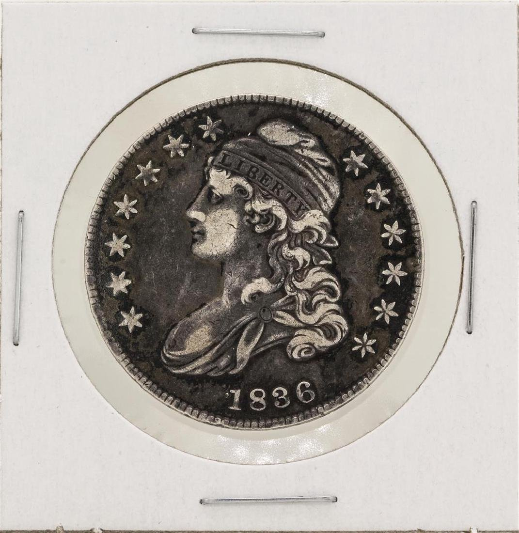 1836 Capped Bust Half Dollar Silver Coin