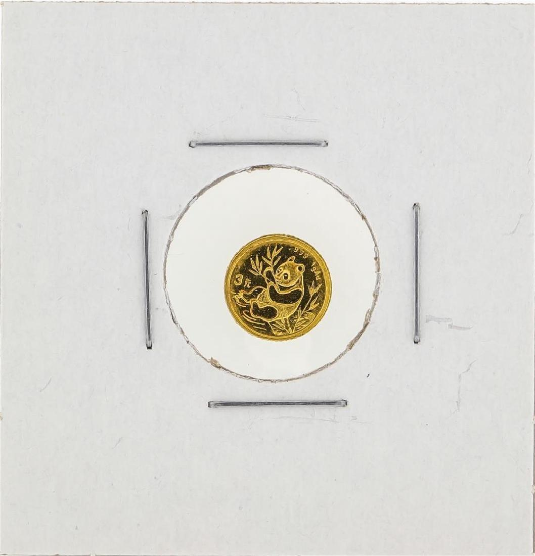 1991 1 Gram China Panda Gold Coin