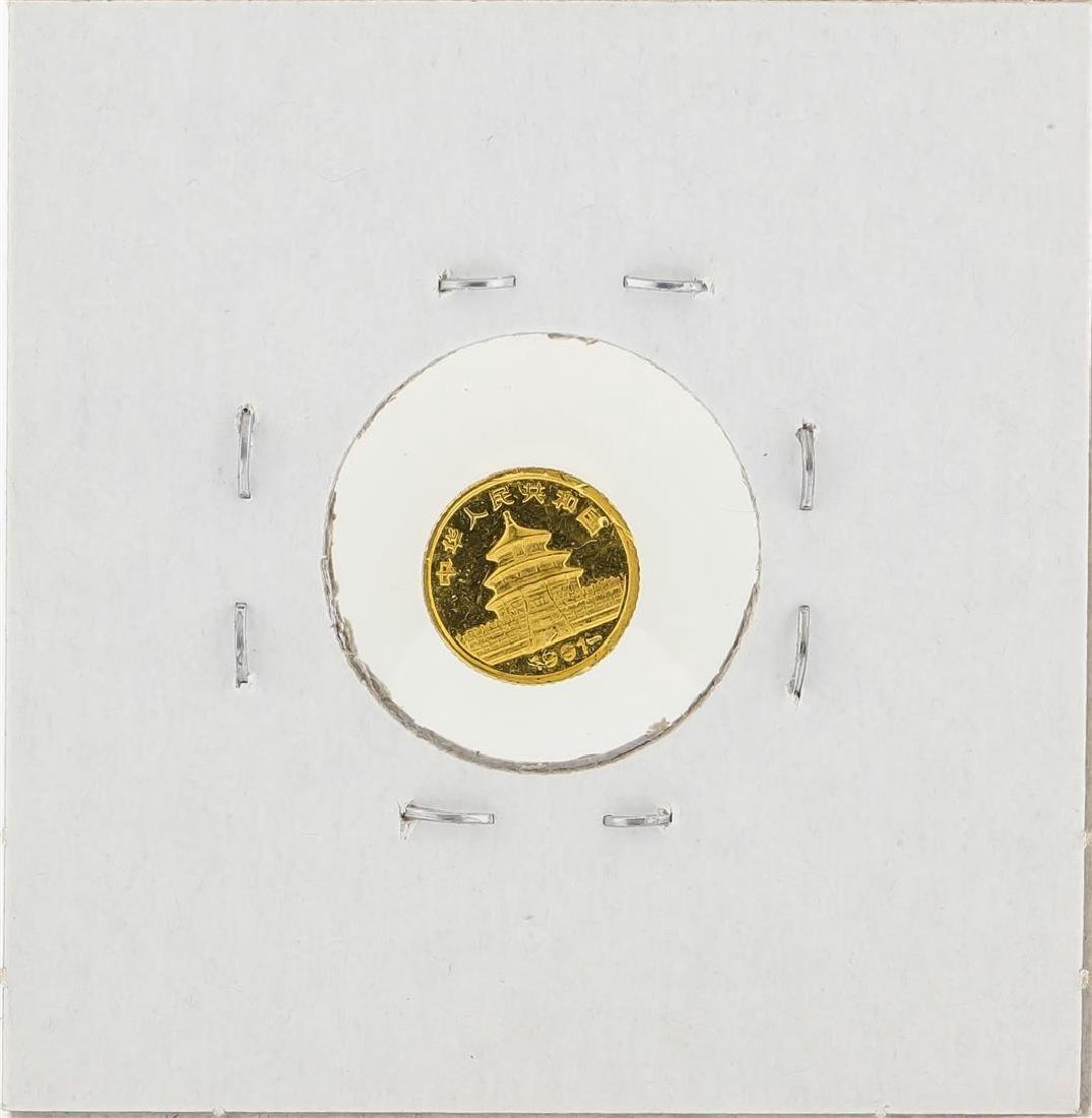 1991 1 Gram China Panda Gold Coin - 2