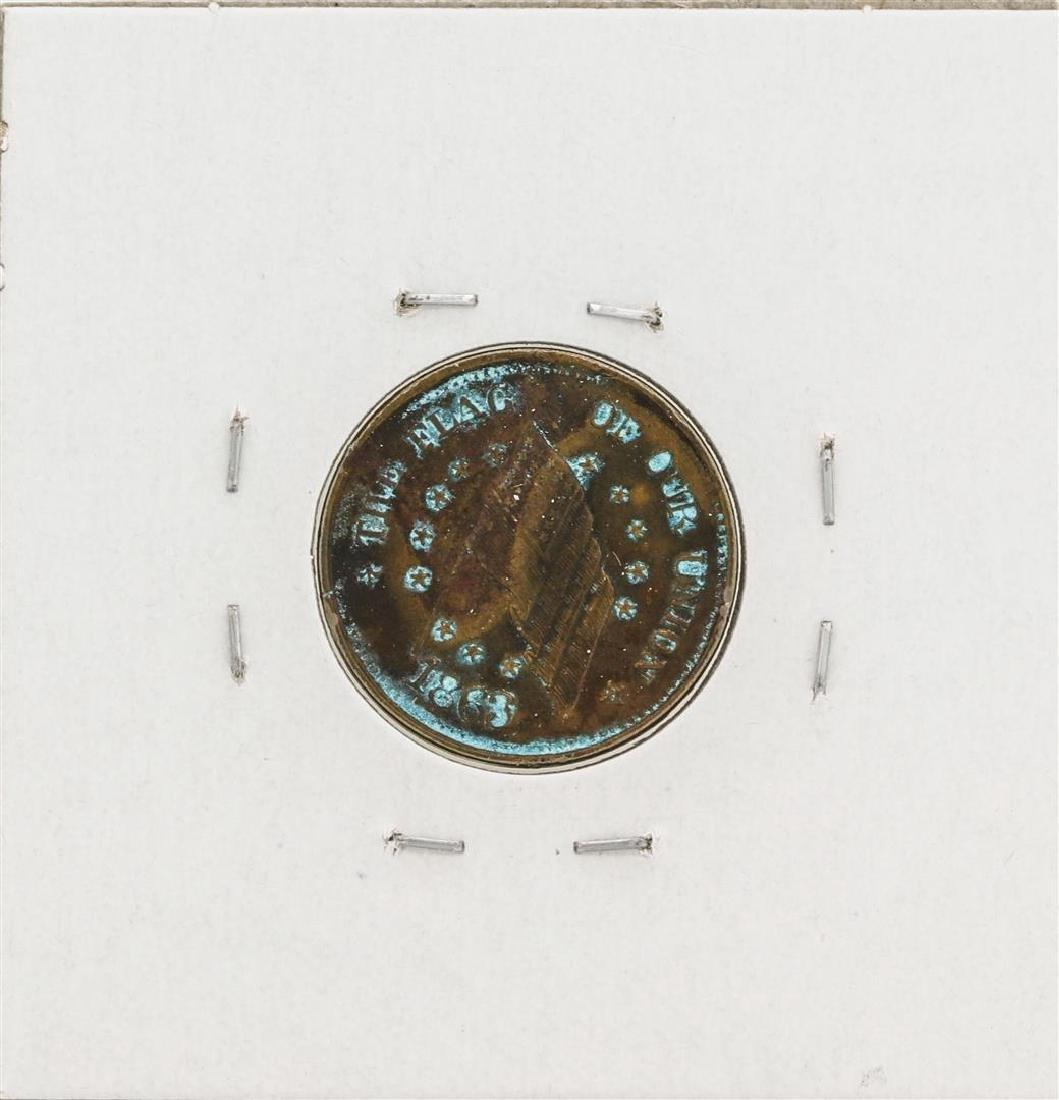 1863 Civil War Token Sherwood & Hopson China Emporium - 2