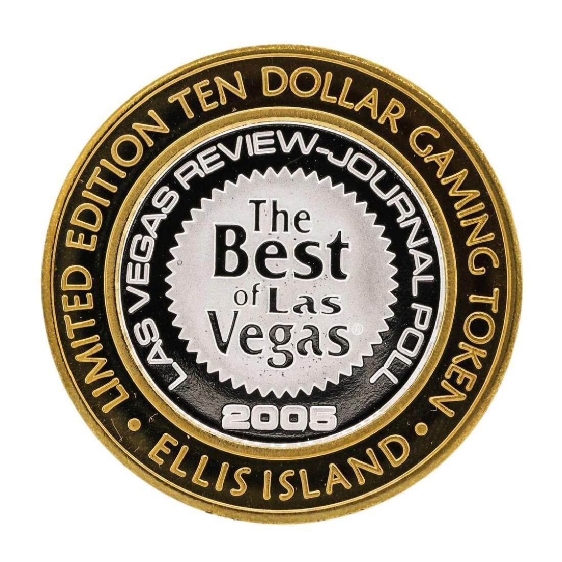 .999 Silver Ellis Island Casino & Brewery Las Vegas $10