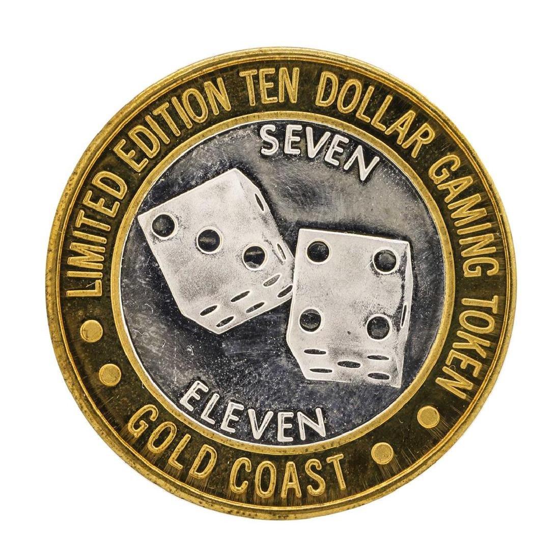 .999 Fine Silver Gold Coast Las Vegas $10 Casino Limted