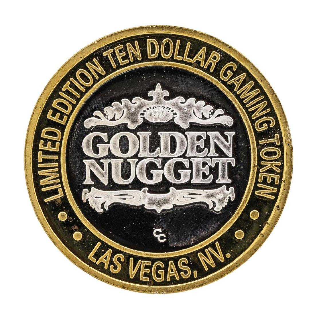 .999 Silver Golden Nugget Las Vegas $10 Casino Limited - 2