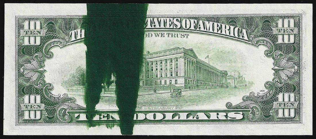 1981 $10 Federal Reserve Note ERROR Ink Smear