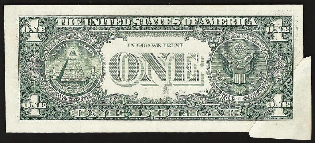 1977 $1 Federal Reserve Note Gutter Fold ERROR - 2