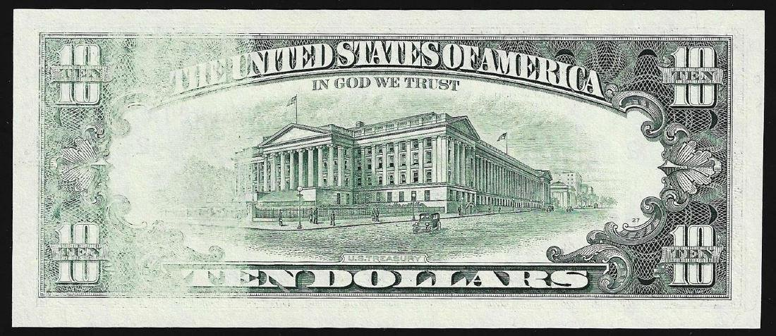 1995 $10 Federal Reserve Note ERROR Insufficient Inking