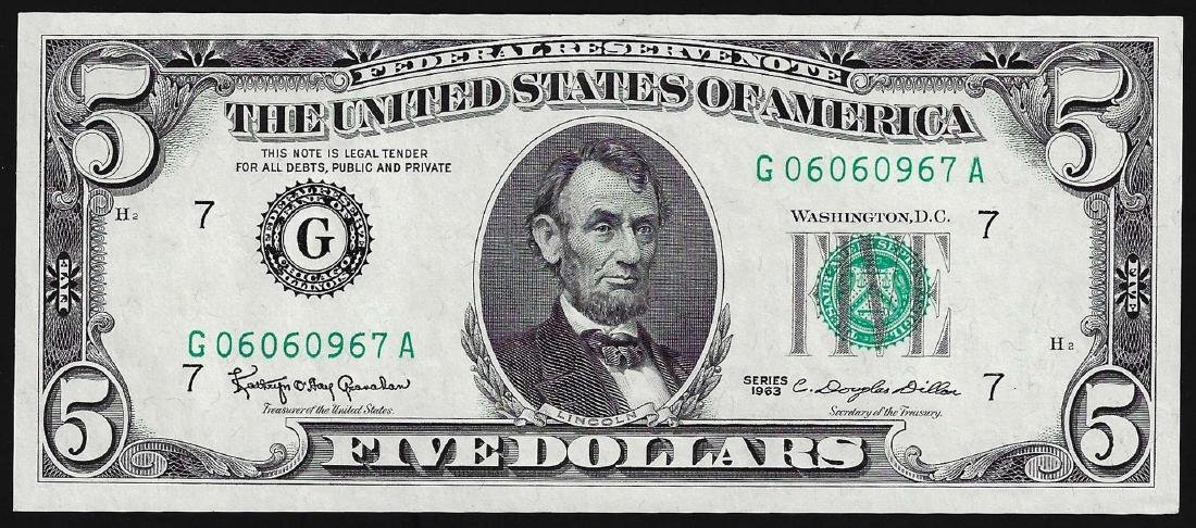 1963 $5 Federal Reserve Note Uncirculated
