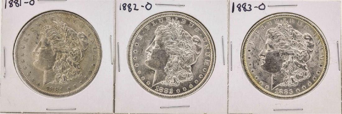 Set of 1881-O to 1883-O $1 Morgan Silver Dollar Coins