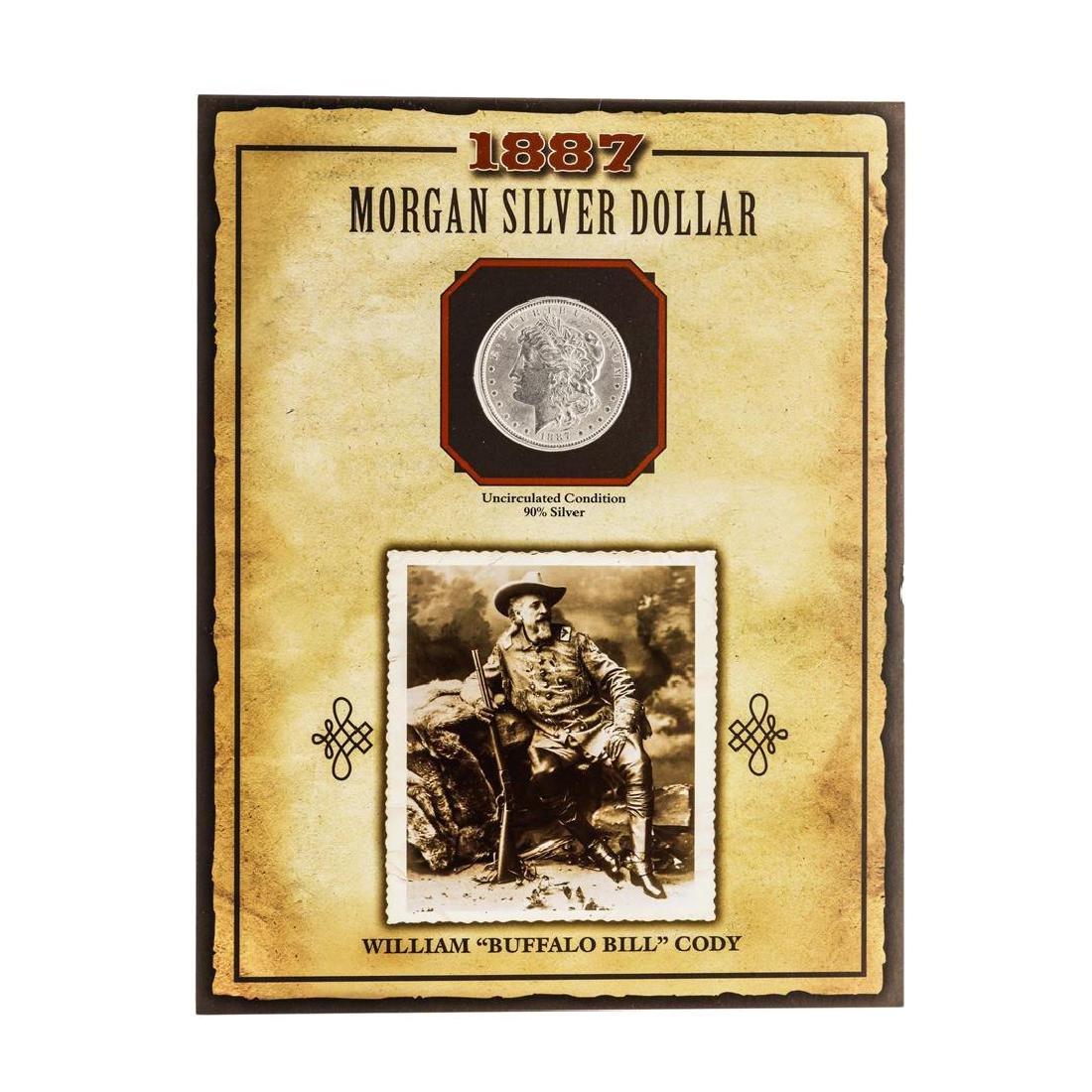 """1887 $1 Morgan Silver Dollar Coin with William """"Buffalo"""