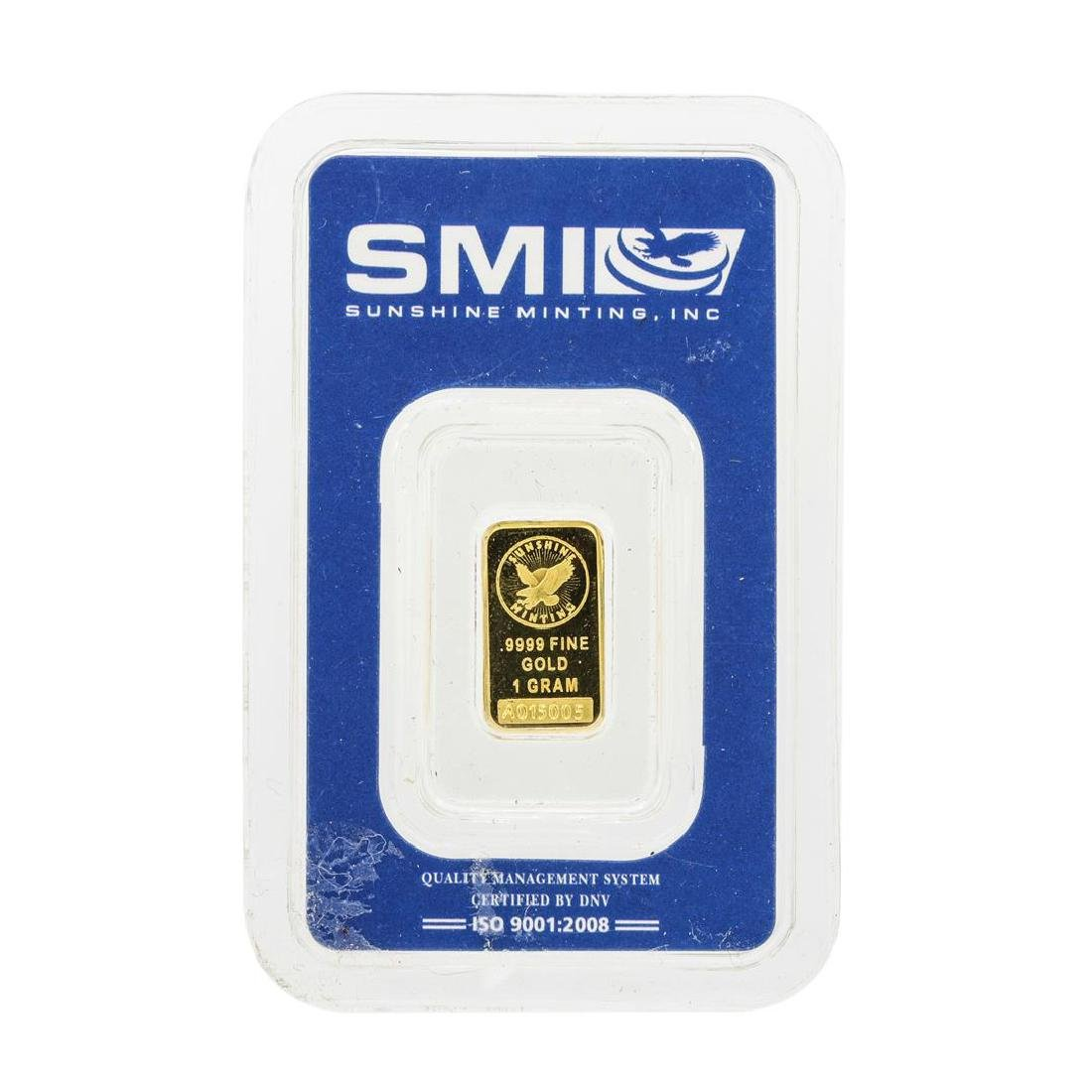 Sunshine Mint 1 Gram .9999 Fine Gold Ingot - 2
