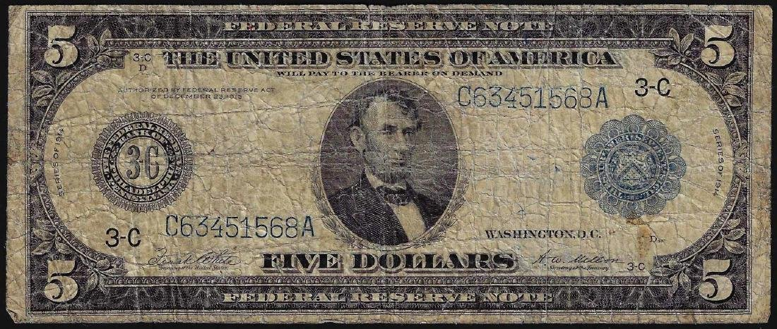 1914 $5 Federal Reserve Blue Seal Note