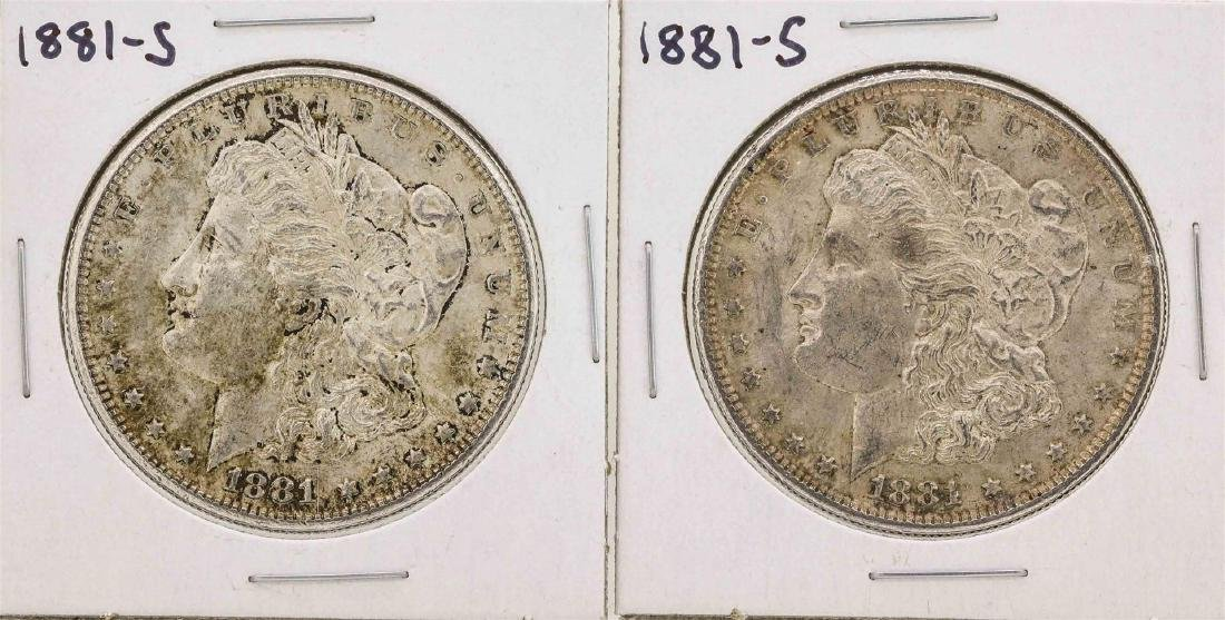 Lot of (2) 1881-S $1 Morgan Silver Dollar Coins
