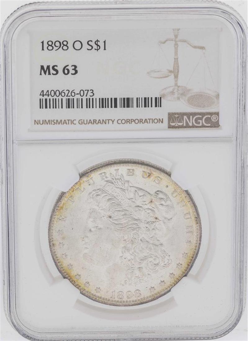 1898-O $1 Morgan Silver Dollar Coin NGC MS63