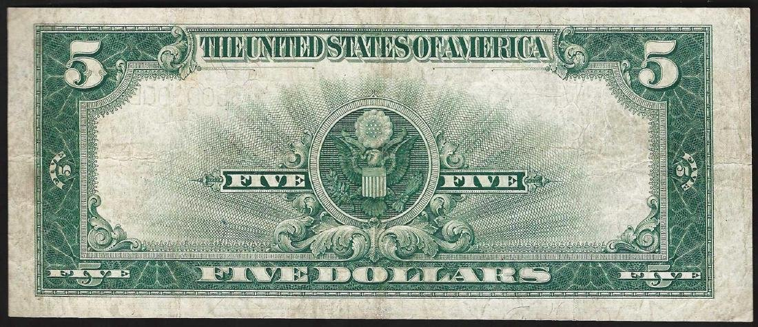 1923 $5 Porthole Silver Certificate Note - 2