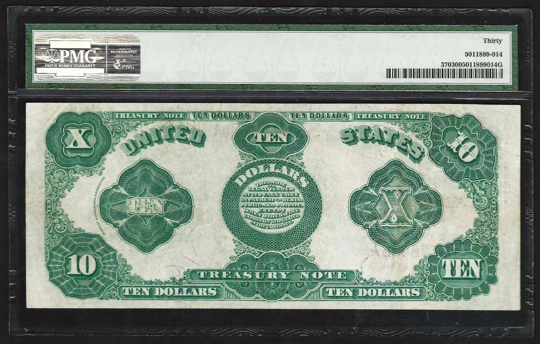 1891 $10 Treasury Note Fr. 370 PMG Very Fine 30 - 2