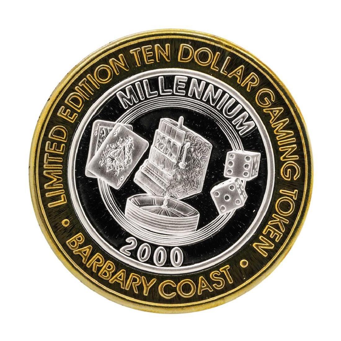 .999 Silver Barbary Coast Las Vegas, Nevada $10 Limited