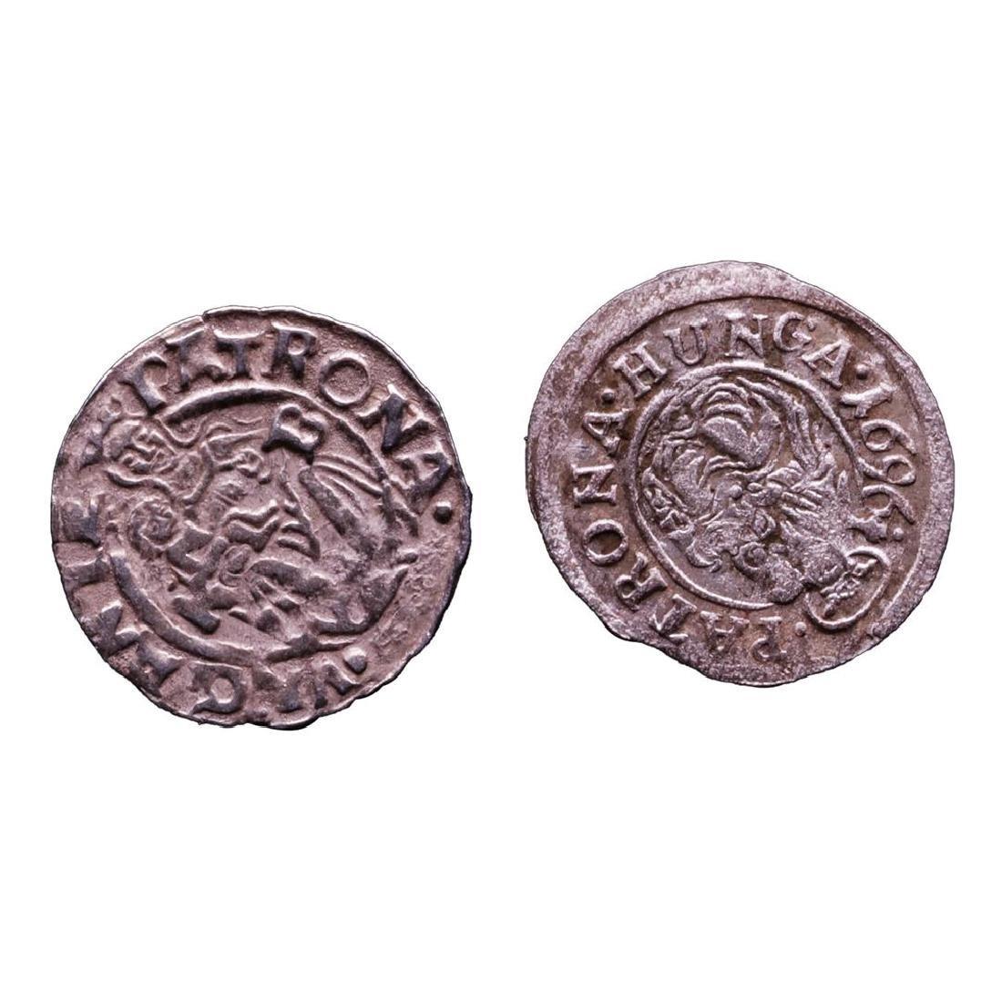 Lot of (2) 1540-1590 KB Hungary Ferdinand I - Madonna &