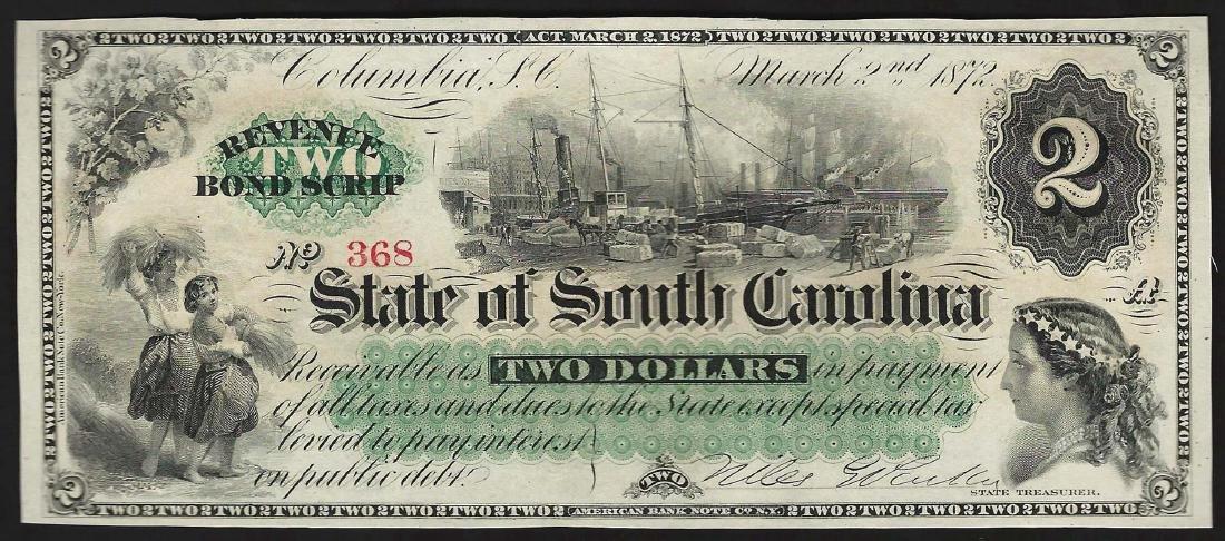 2 state south carolina revenue bond scrip 1872 2 state south carolina revenue bond scrip xflitez Gallery