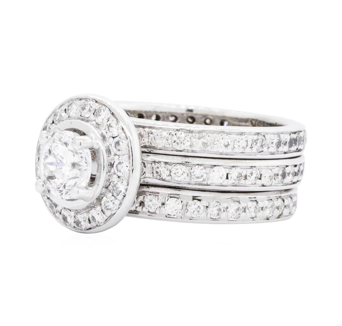 14KT White Gold 2.33ctw Diamond Ring - 2
