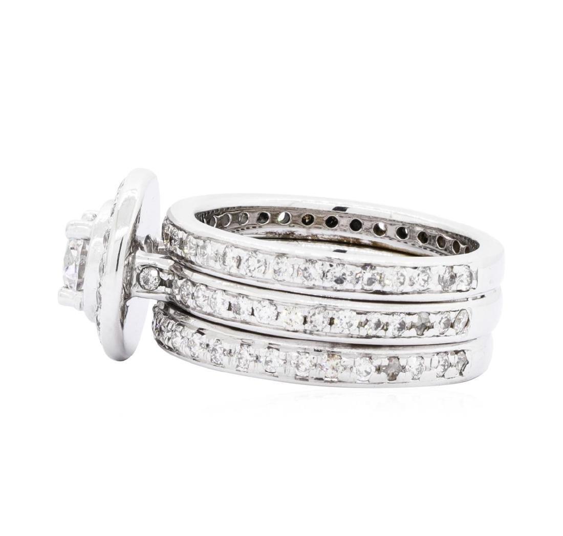 14KT White Gold 2.33ctw Diamond Ring - 3