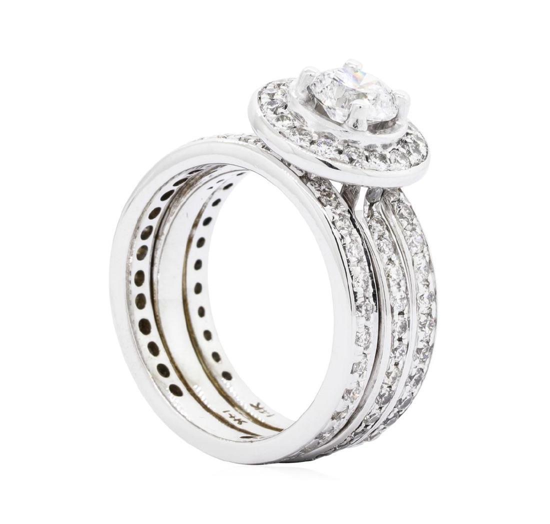 14KT White Gold 2.33ctw Diamond Ring - 4
