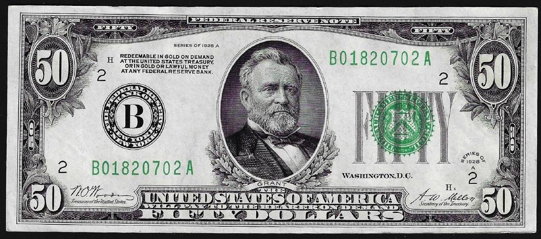1928A $50 Federal Reserve Note New York